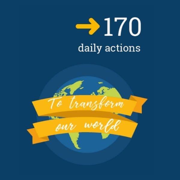 Imatge descarregada de la pàg. de l'ONU corresponent a la guia d'accions individual per a transformar el món