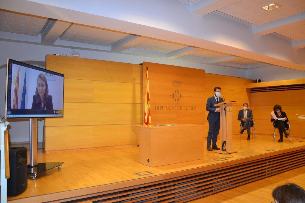 Intervenció Pere Aragonès en l'acte de presentació del projecte de transformació econòmica de les terres de Lleida