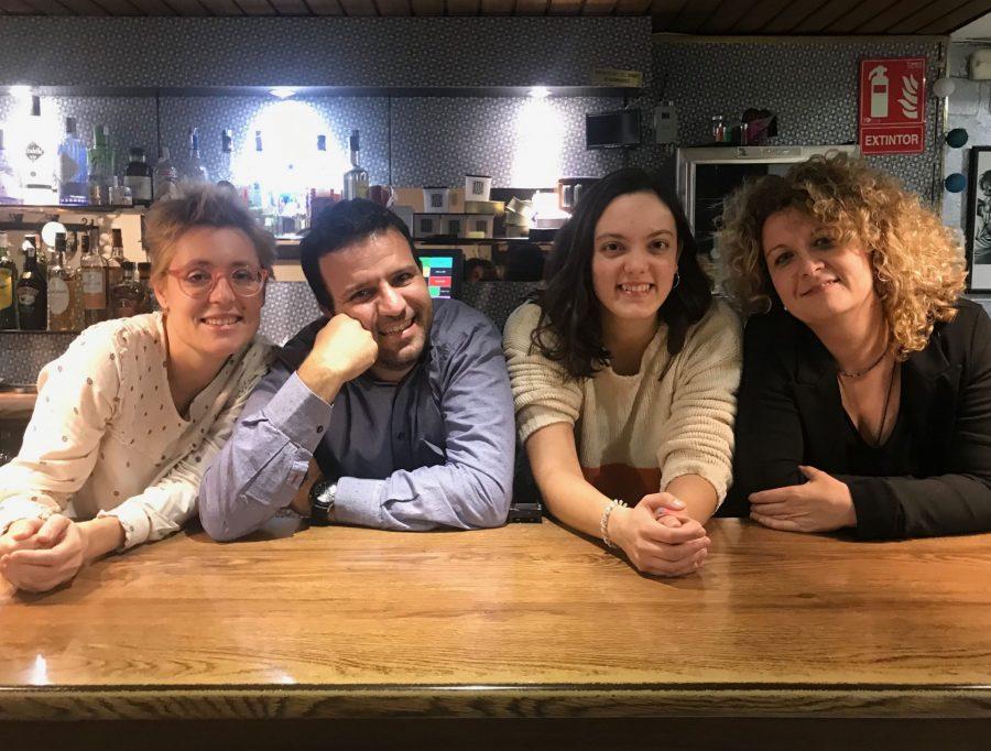 L'equip sencer de Comunicant Bona Premsa: Mireia Tena, David Rodríguez, Paula Felis i Berta Palau.