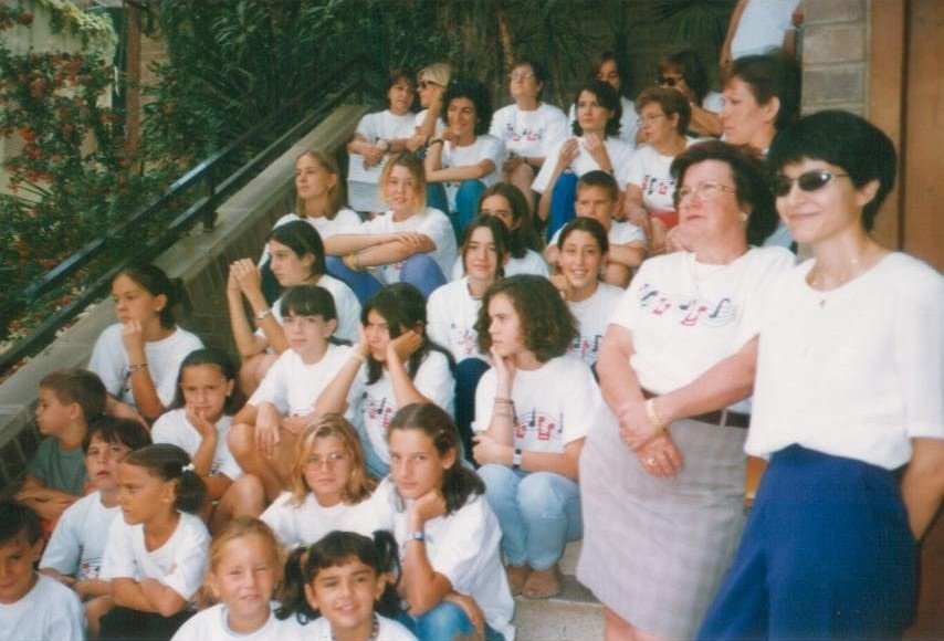 Foto grupal Coral Ginestell anys 90