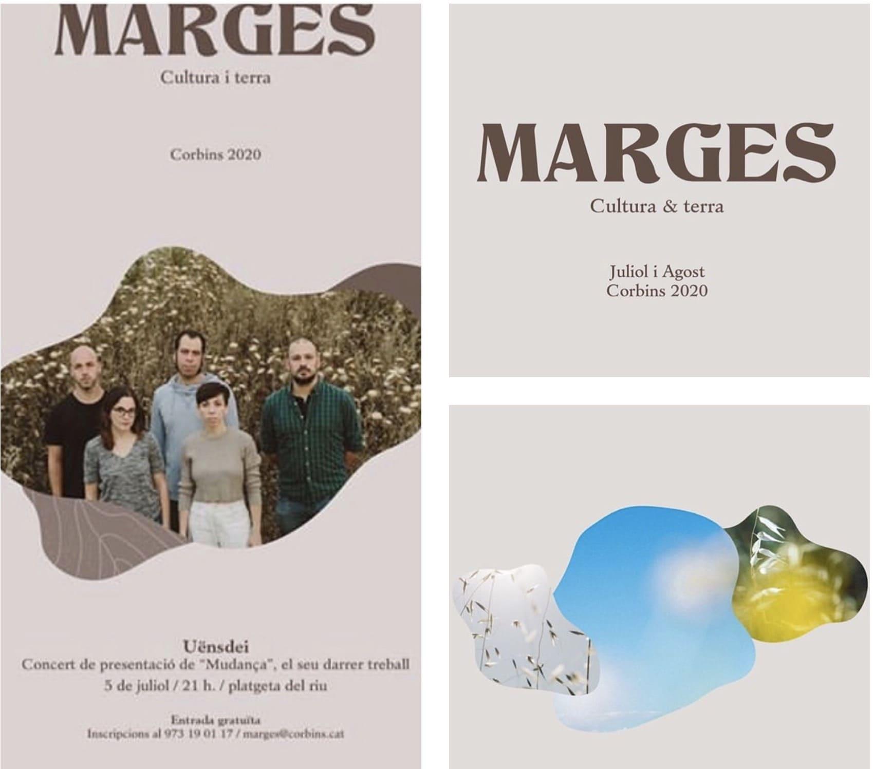Cartells i logo Festival Marges dissenyats per Latipo
