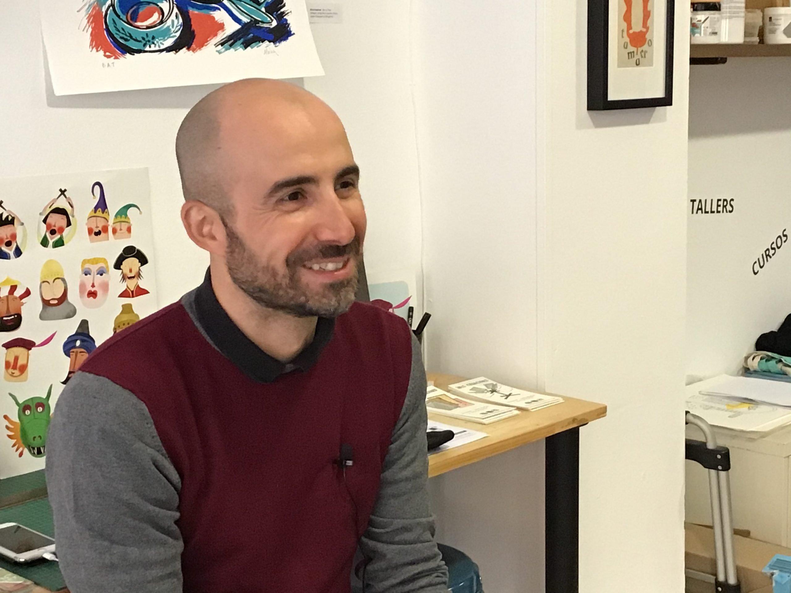 Maurizio Sartori de Nus Creacions durant l'entrevista