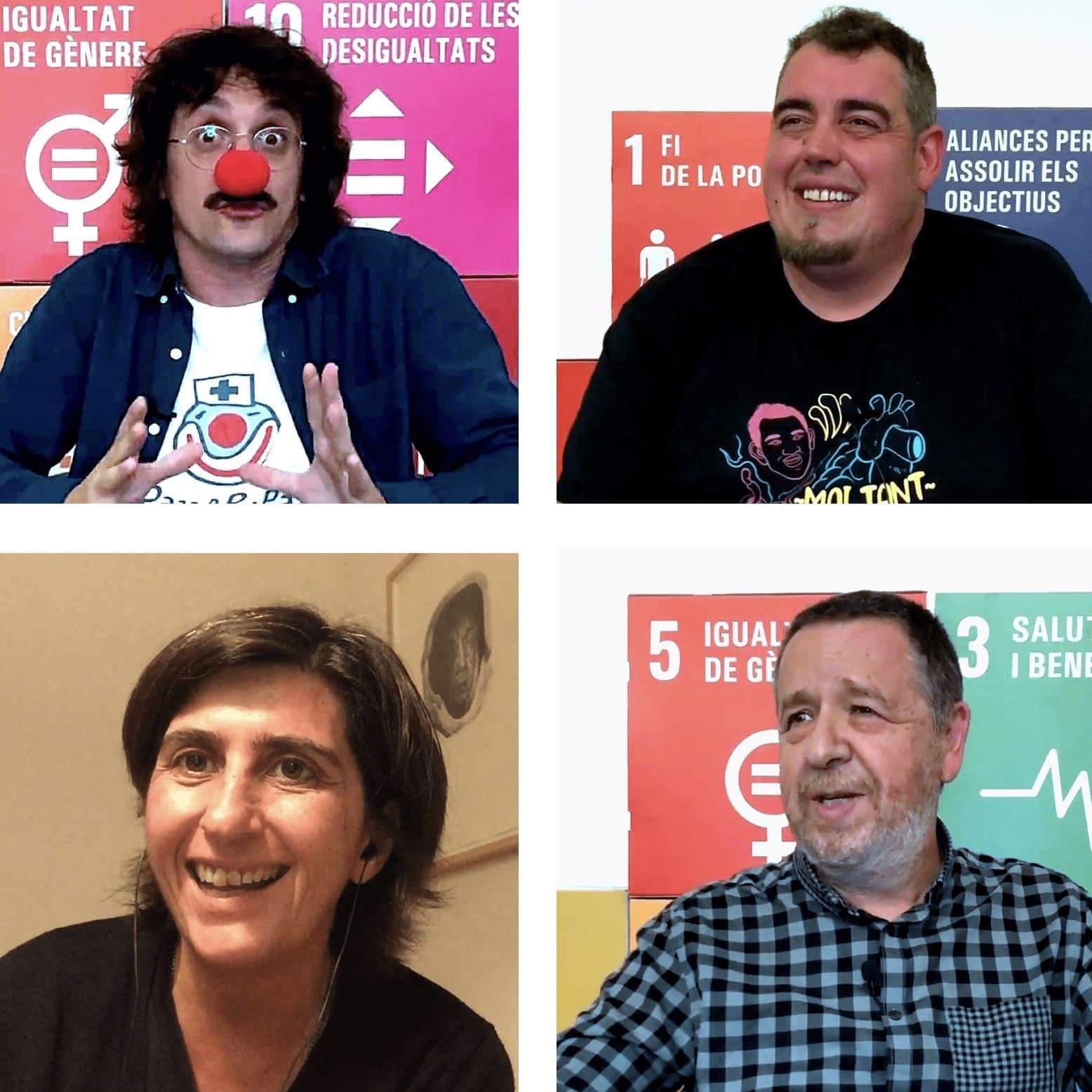 Ponents joranda INNSOC 2020: Jordi Solé, Ferran Aixalà, Natza Farré i Francesc Abella
