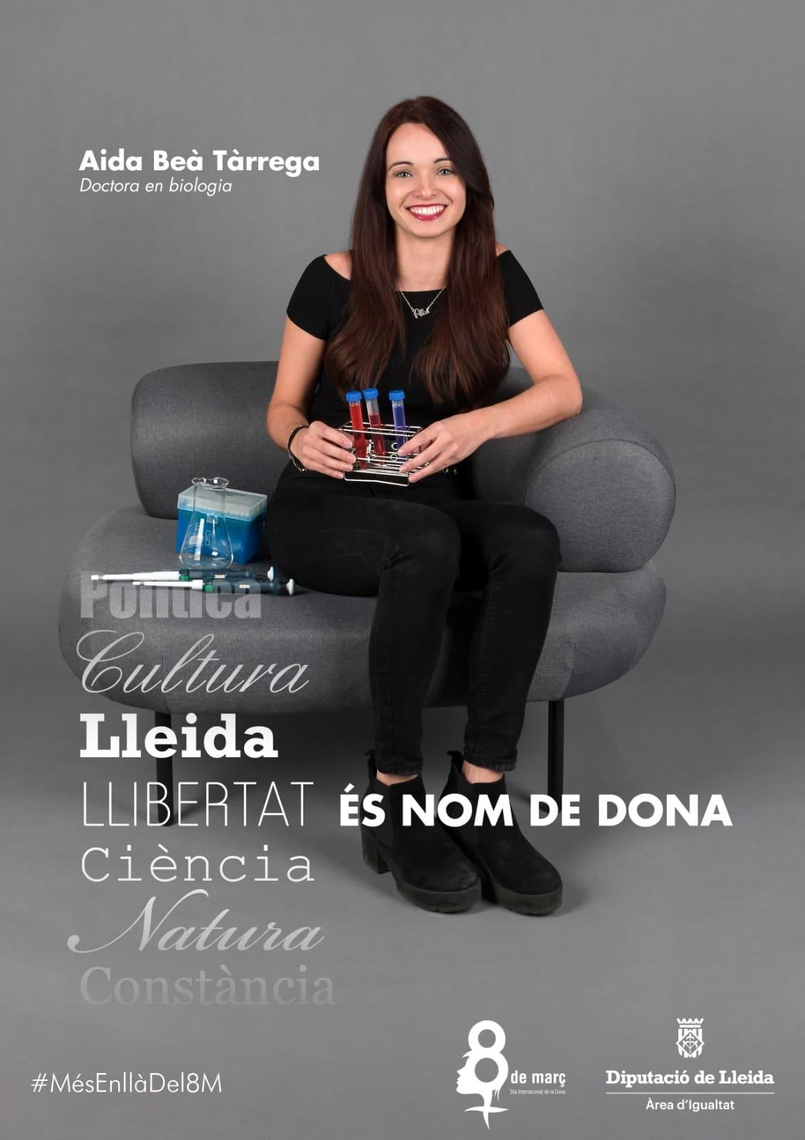 Aida Beà Tàrrega, doctora en biologia. Forma part de la campanya Nom de dona de la Diputació de Lleida