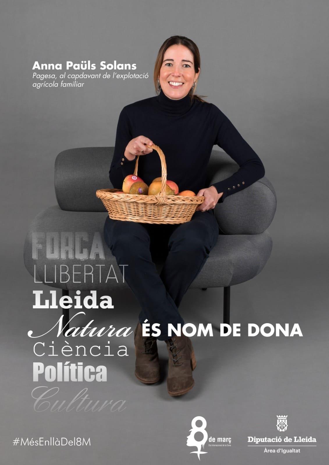 Anna Paüls, una de les tres dones que posa nom i cognom a la campanya Nom de dona