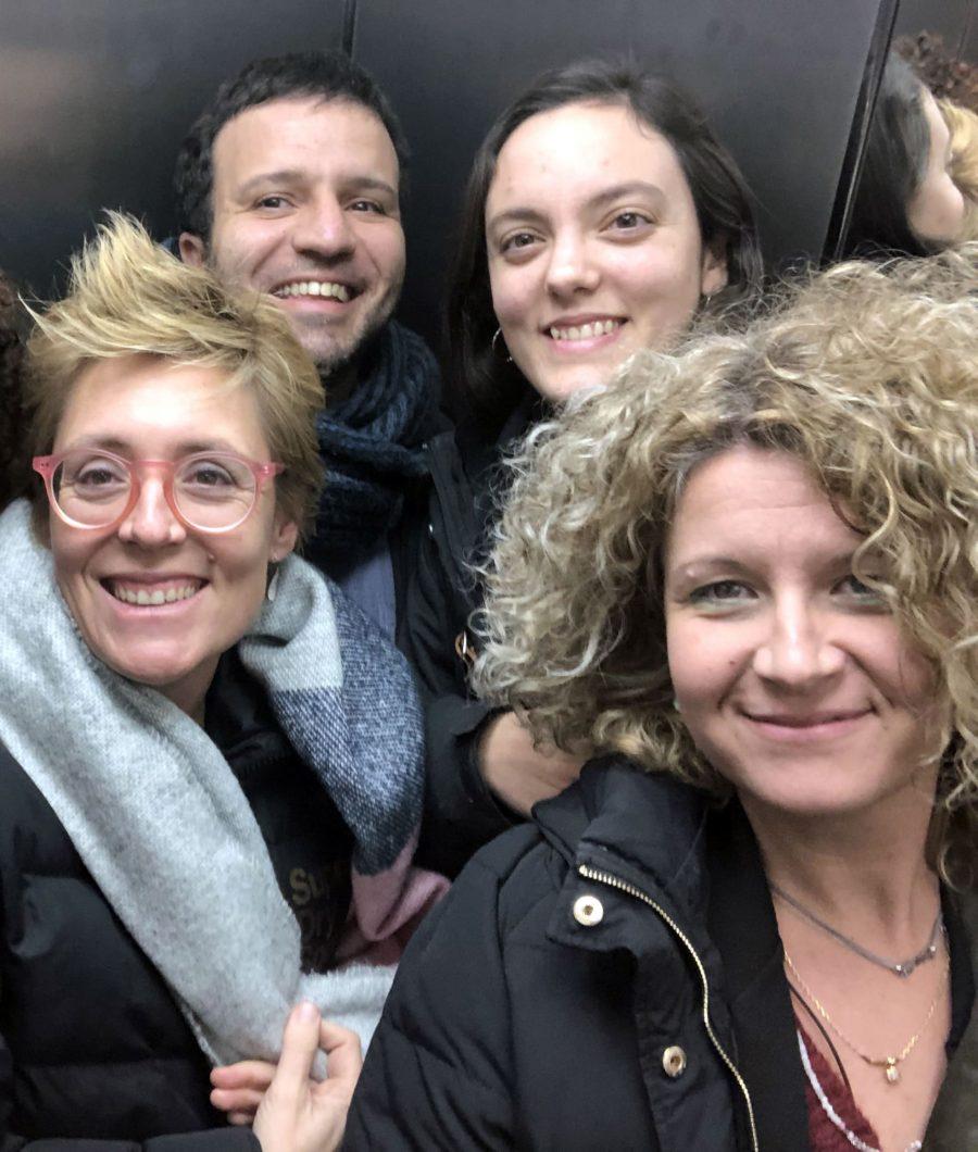 L'equip de Comunicant Bona Premsa: David Rodríguez, Paula Felis, Mireia Tena i Berta Palau