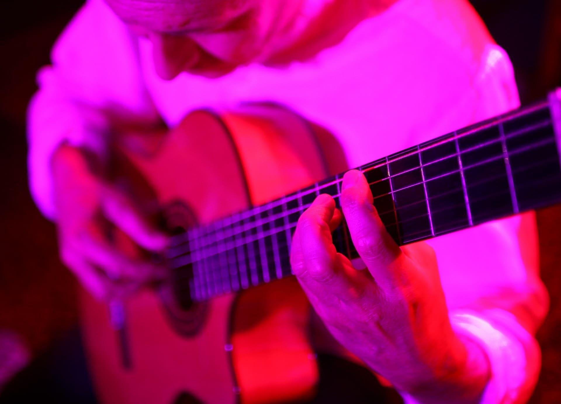 Josep-Manel Vega tocant la guitarra